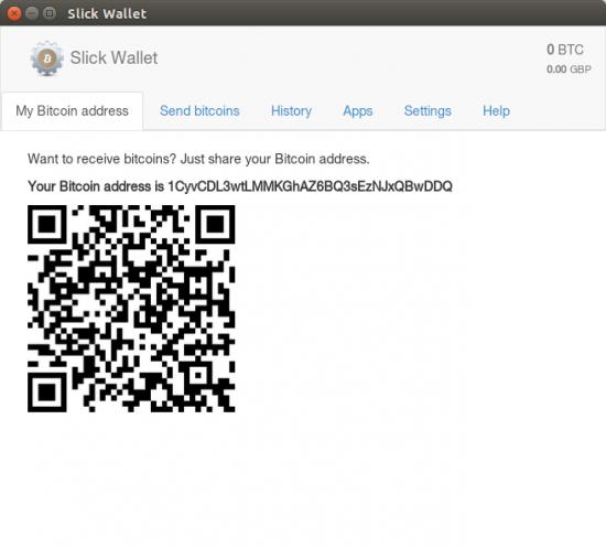 Slick Wallet - Receiving bitcoins