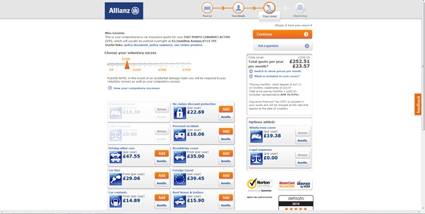 Allianz Dark Patterns Implementation