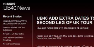 UB40 Blog Page