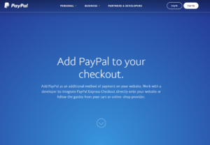 Graphic of PapPal checkout website